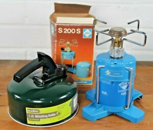 Campingaz S 200 S Portable Camping Stove Gas Buner, Stand & Summit 1.2Lt Kettle