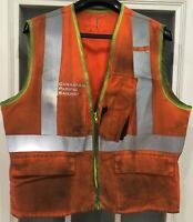 Canadian Pacific Railway Running Trades High Visibility Vest Cdr. Egr. Size Sm.