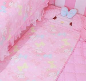 120*50cm My Melody Cartoon Pink Rug Bedside Rag Rug Carpet Yoga Mat Girls Gifts