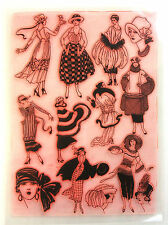 Clear Stamps Sheet 20x27cm ~ Vintage Fashion Art Deco FLONZ rubber 403-127
