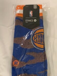 Stance NBA NY Knicks Camo Melange Classic Pique Socks - Men's (L)