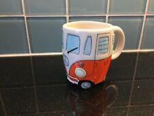 Orange White VW Camper Van Mug Exc Cond Collectable Present Gift