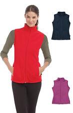 Womens Ladies BLACK RED BLUE PINK Breathable Lightweight Micro Fleece Vest Gilet