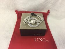 UNOde50 a Pearl of Wisdom Silver-plated Metal Beaded Handcrafted Bracelet