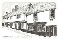 Art Sketch Postcard 11-17 Chantry Street Andover Hampshire by Don Vincent AS1