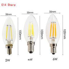 Retro Dimmable E12 E14 LED Bulb 2W 4W 6W Edison COB Candle Light Lamp 110V 220V