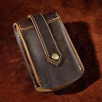 Men Car Key Case Keyrings Crazy Horse Genuine Leather Keychain Holder Bag New