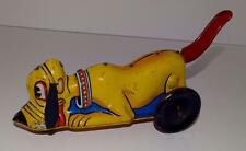 """EX!DISNEY1939 PLUTO TIN""""LEVER ACTION""""WIND-UP TOY BY LOUIS MARX-RED TAIL VERSION!"""