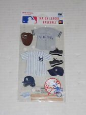 New in Package MLB Scrapbooking Sticker Set New York Yankees