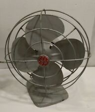 "Vtg 1950s GE General Electric F11S106 Oscillating Electric 10"" Fan Tested Works"