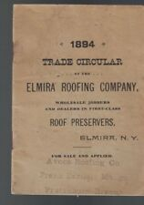 Trade Circular of the Elmira Roofing Company (Ny) 1894