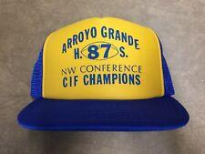 1987 CIF Champs Arroyo Grande High School Football Eagles CA Trucker Hat