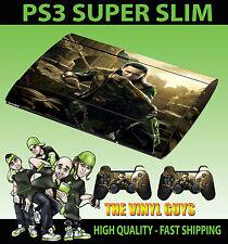 Playstation Ps3 Superslim Loki Dios De Aventuras supervillian pegatina & 2 Pad Skin