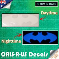 Classic BATMAN SYMBOL Blue Glow in the Dark Vinyl Sticker Car Motorcycle Wall