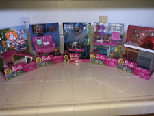 Barbie 5 Furniture Accessories Dog House, Kitchen, BrickOven Pizza Ect. Lot