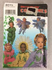 Pea Pod Daisy Fairy Costume Sewing Pattern Infant Toddler 1/2-4 Simplicity 8273