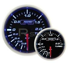 Prosport 52mm Super Smoked Blue / White Turbo Boost BAR gauge