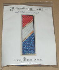 """Laura J. Perin """"Red, White & Blue Panel"""" Needlepoint Pattern w/ Beads & Threads"""
