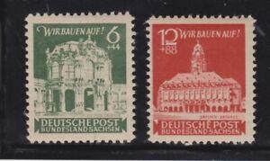 1946 SBZ Ost-Sachsen Satz MiNr. 64-65, postfrisch