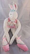 "Animal Alley Ballerina Rabbit White Bean Plush Ballet Doll 21"""