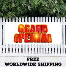 Banner Vinyl Grand Opening Advertising Flag Sign Many Sizes Now Open Store Shop