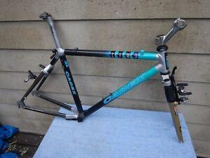 "18"" Vintage Giant Cadex CFM3 Carbon Fiber Mountain Bike Frameset Rock Shox"