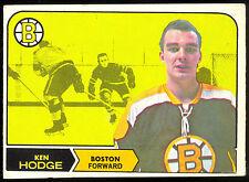 1968 69 OPC O PEE CHEE HOCKEY #8 KEN HODGE VG-EX BOSTON BRUINS CARD