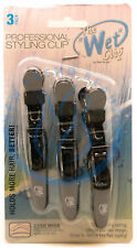JDB Luxor Pro The Croc Clip Wet Dry Styling Parting Hair Clips BLACK