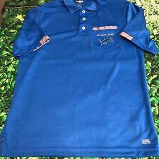 Detroit Lions NFL Men's Golf Polo Shirt Medium Blue TX3 Team Apparel Football