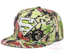 ✅UK✅ UNISEX SUPERMAN STYLE CAP /Snapback/Flat cap/Fashion Hats/Hiphop/Grime✅(24)