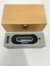 RDGTOOLS 100MM PRECISION ENGINEERS LEVEL 0.02MM/M ACCURACY IN WOODEN BOX