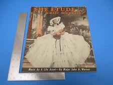 Etude Music Magazine October 1941 Vol LIX #10 Rebuilding A Small Home Organ L146