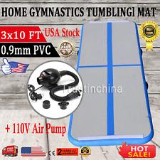 3 X 10FT Air Track Floor Home Inflatable Gymnastics Tumbling Mat GYM W/Pump hot!
