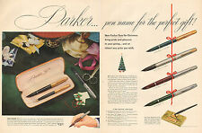 1951 vintage Christmas AD PARKER 51 fountain pen Gift Sets   121716