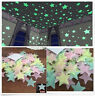 100 pcs Glow Wall Stickers 100pcs Decal Baby Kids Bedroom Home Decor Stars