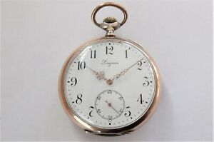 1916 SILVER & GOLD CASED LONGINES 15 JEWELLED SWISS LEVER POCKET WATCH WORKING