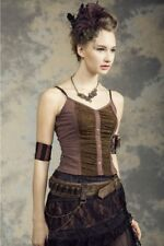Steampunk Victorian Burlesque Style Black or Coffee Top Shirt Blouse by RQ-BL