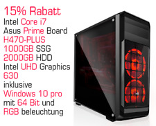 Systemtreff Gaming-PC Intel core i7 | 1000GB SSD | 2000GB HDD | Asus Prime Board