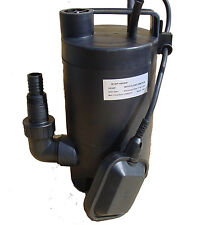 1/6HP 2000GPH Plastic Electric Submersible Dirty Water Sump Pump with Float Swit