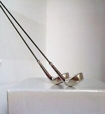 Antiguo Plata Esterlina Ley 1909 Alfiler Sombrero Pin De Palo Golf Club Diseño