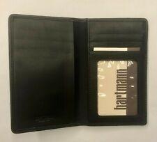 Hartmann Bifold Credit Card Leather Wallet Black