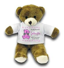 "Personalised Goddaughter Bear Gift 7"" Teddy Bear - Pink"