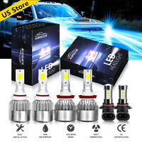 For Toyota Tundra 2007-2013 LED Headlight Blue High/Low Beam + Fog Light Combo .