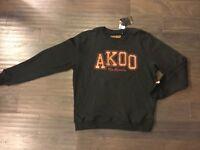 Akoo Brand Fox Crew Sweatshirt No Rivals Black New Men's Size XL