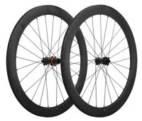 Disc Brake Carbon Road Bike Wheels Clincher Tubeless 6 bolts 700C Matt Rim 50mm