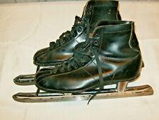 "Johnsons Trademark Nestor Johnson Co. Black Ice Speed Skates 10.5 Blade-15"""