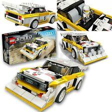 Lego 76897 velocidad Campeones 1985 Audi Sport Quattro S1 Rally Coche Conjunto de juguetes de construcción