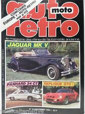 Revue AUTO RETRO magazine n° 63 - novembre 1985 collection jaguar MK V panhard