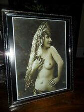ART DECO VINTAGE GYPSY NAKED LADY SILVER PICTURE PHOTO FRAME BOHEMIAN OLD