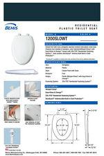 Bemis 1200SLOWT-325 Elongated Plastic Slow Close Toilet Seat - VERDE GREEN